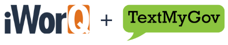 iWorQ Systems & TextMyGov logos
